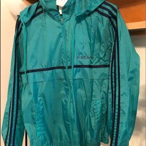 vintage adidas windbreaker rain jacket